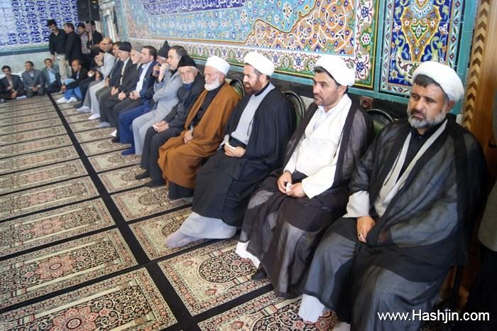 شیخ زاهد جبروتی و استاد عبدا...حبیبی در مراسم تشیع مرحوم عراقی